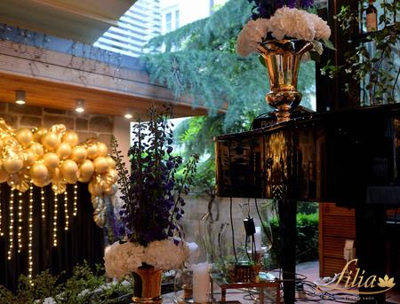 Elegant evening event decoration